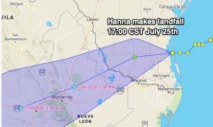Hanna landfall
